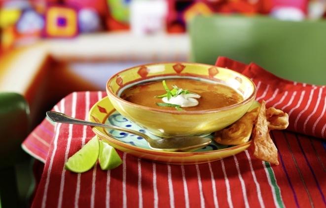 Mexikanische Bohnencremesuppe