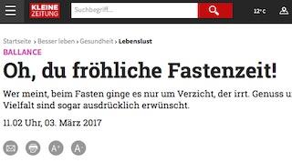 Interview Fasten Kleine Zeitung