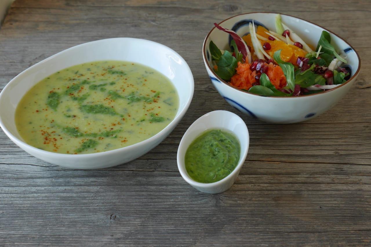 Blumenkohl-Topinambur-Kokos-Curry-Suppe