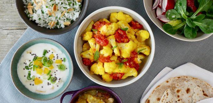 Eine indische Reistafel