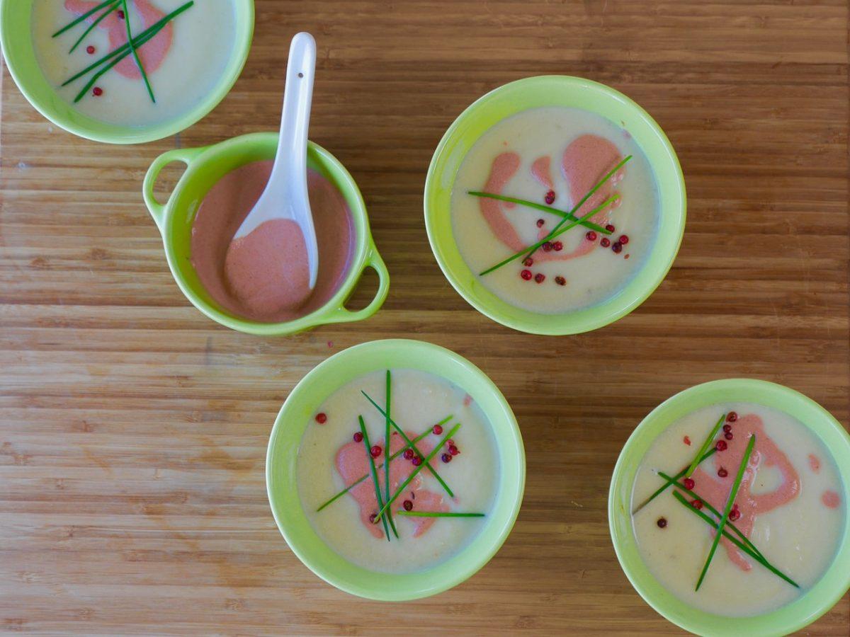 Blumenkohl-Kartoffel-Suppe mit Ingwer